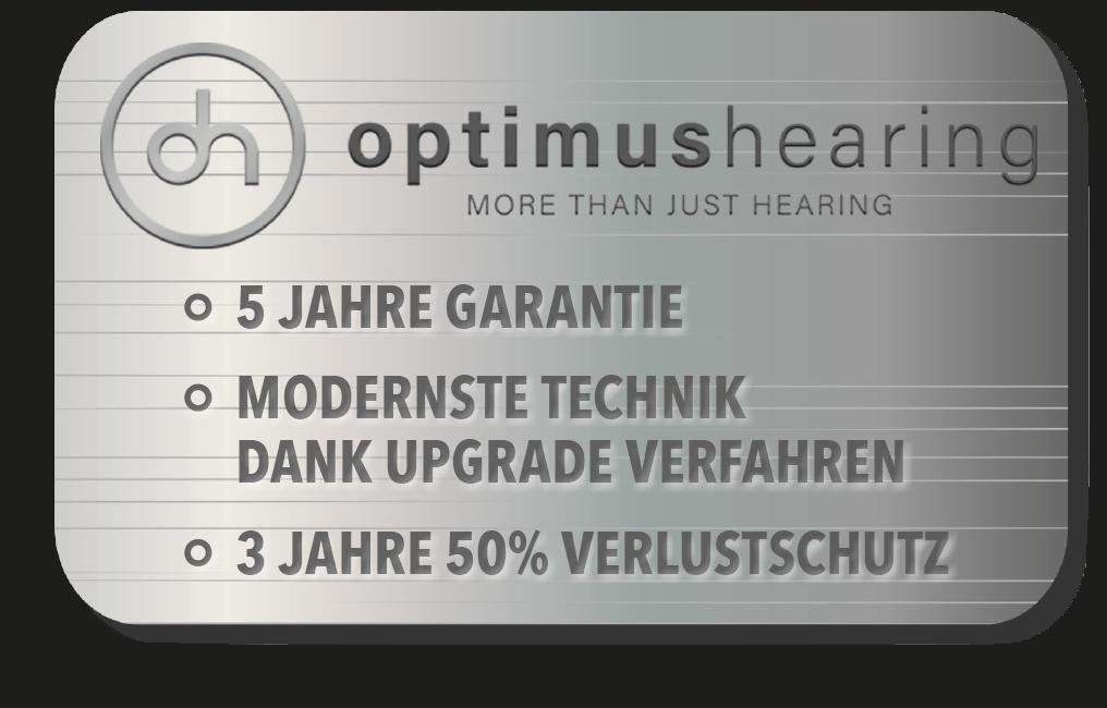 Optimus Hearing Garantie